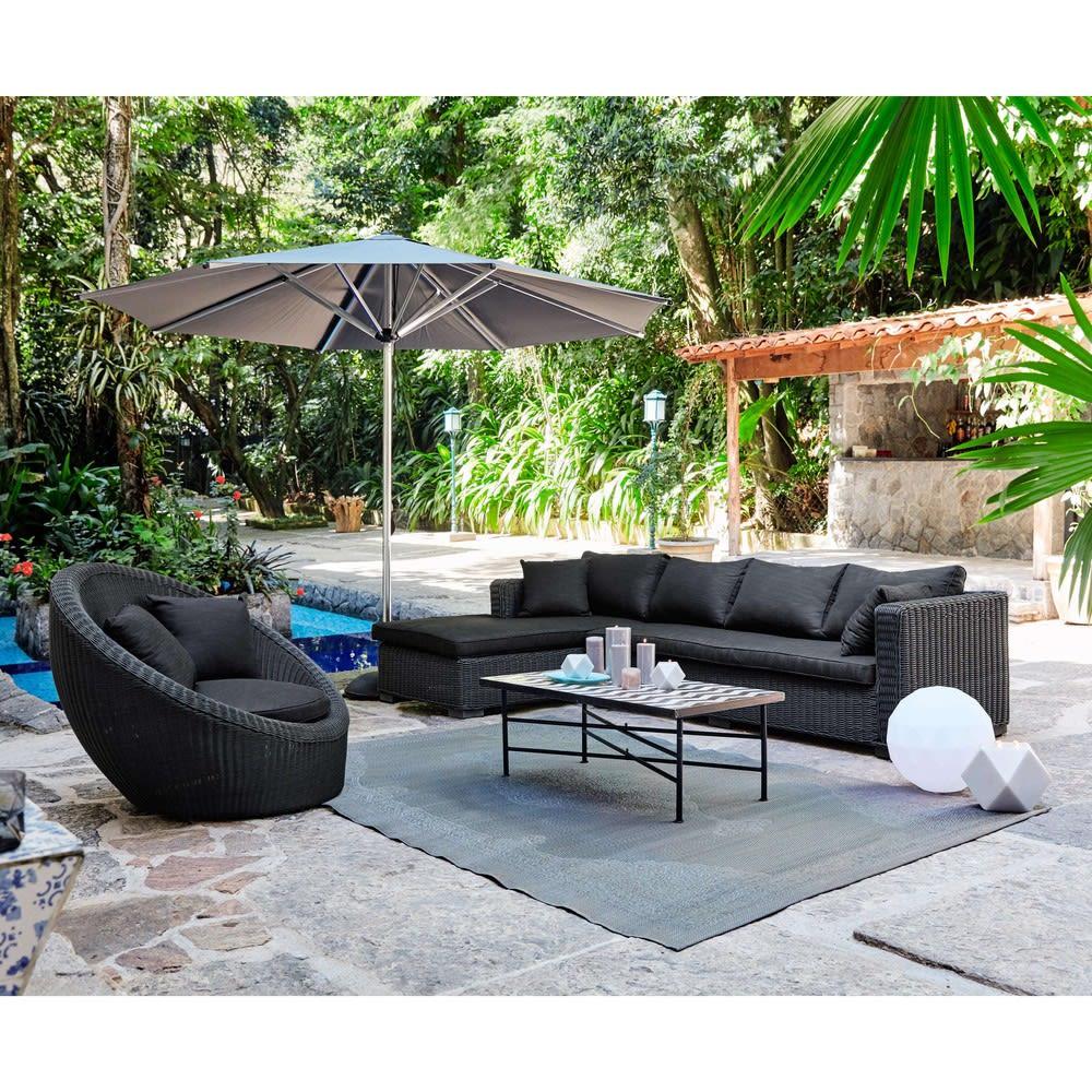 tapis d 39 ext rieur en polypropyl ne gris 120x180 ibiza. Black Bedroom Furniture Sets. Home Design Ideas