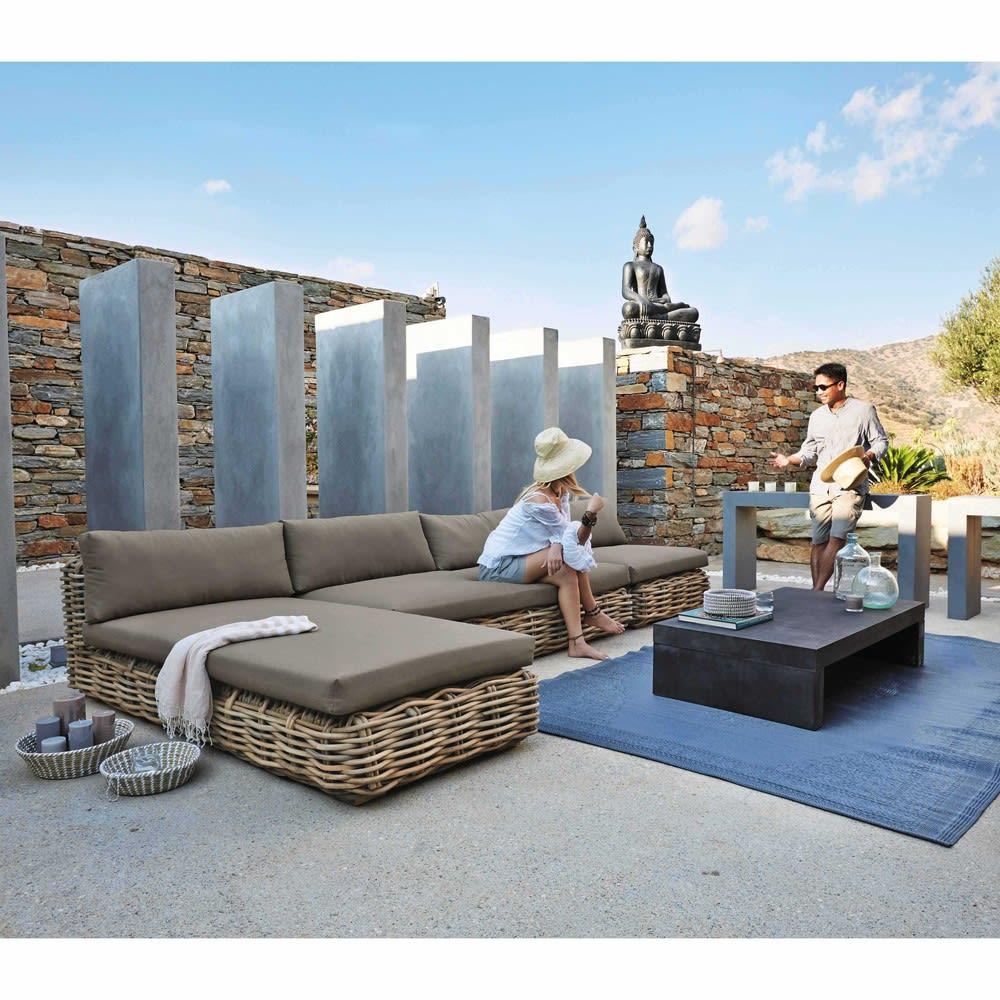 tapis d 39 ext rieur en polypropyl ne gris 180x270 ibiza. Black Bedroom Furniture Sets. Home Design Ideas