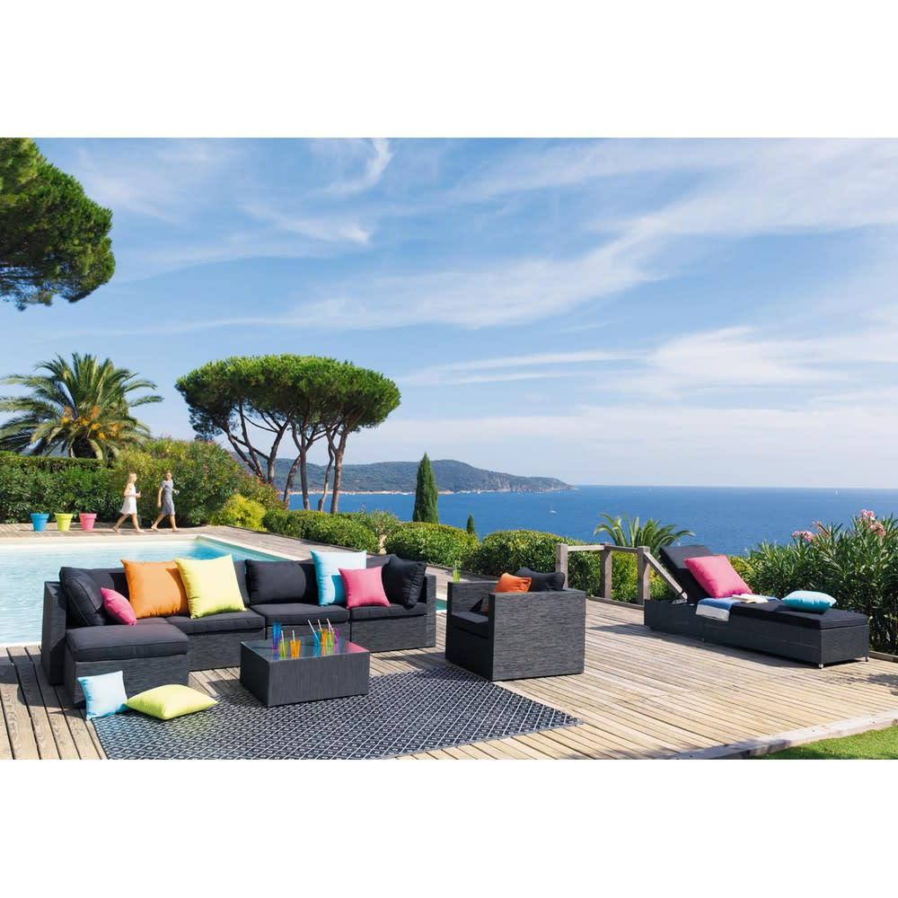 tapis d 39 ext rieur en polypropyl ne noir et blanc 180x270. Black Bedroom Furniture Sets. Home Design Ideas