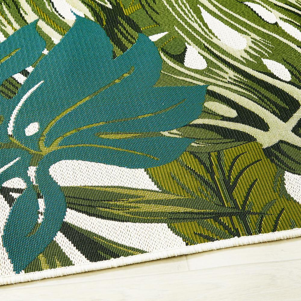 tapis d 39 ext rieur imprim tropical 160x230 amazonie. Black Bedroom Furniture Sets. Home Design Ideas