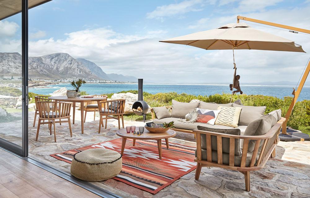 tapis d 39 ext rieur terracotta motifs graphiques 133x200. Black Bedroom Furniture Sets. Home Design Ideas