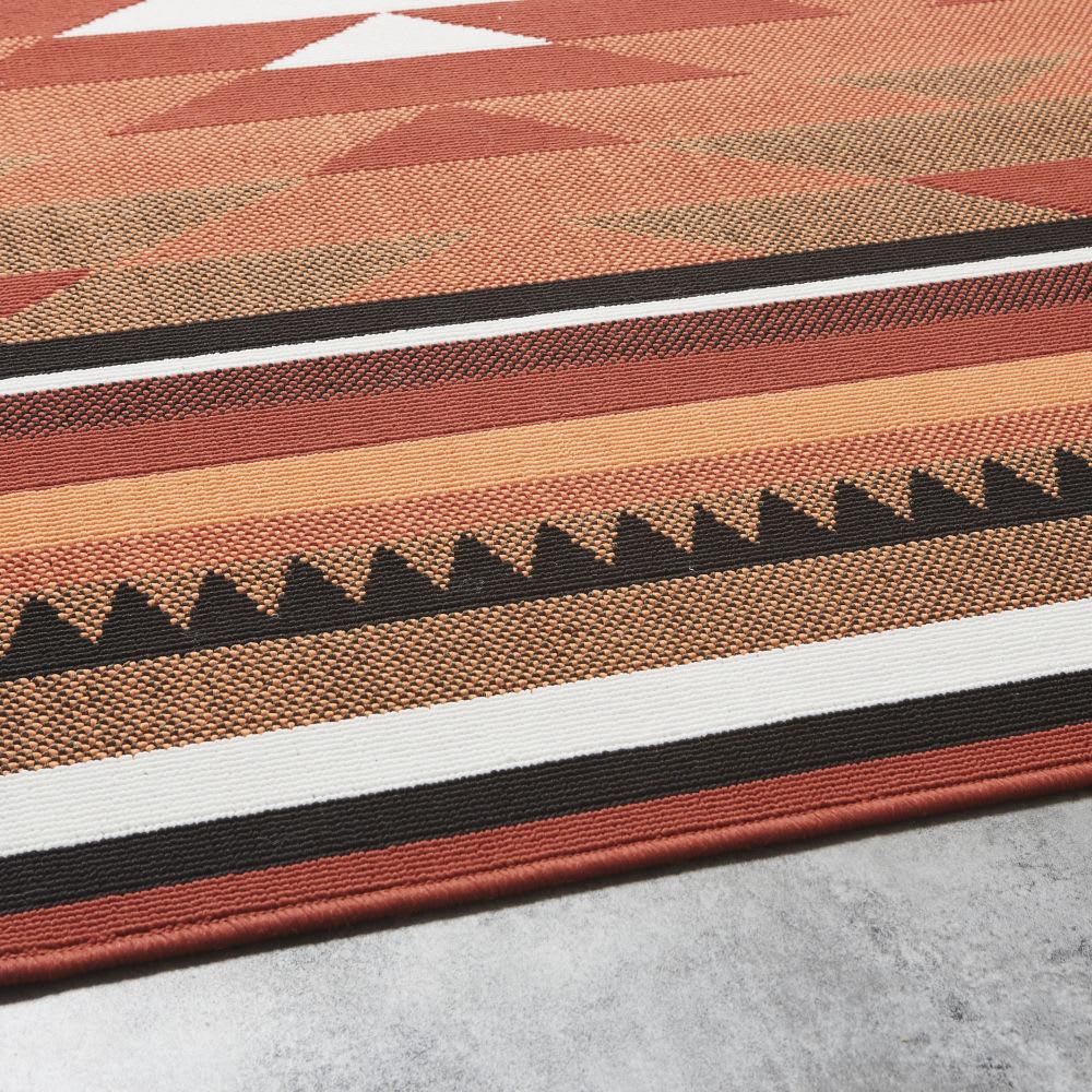 tapis d 39 ext rieur terracotta motifs graphiques 200x200. Black Bedroom Furniture Sets. Home Design Ideas