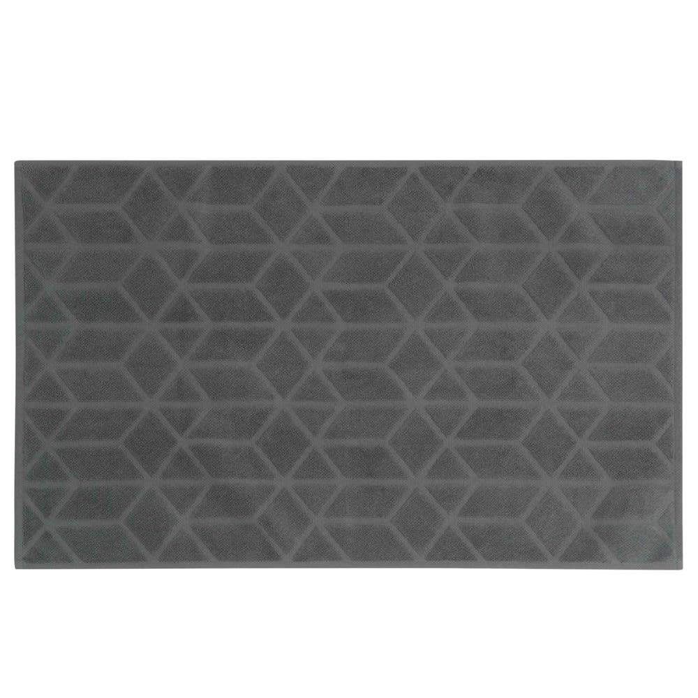 tapis de bain en coton anthracite motifs 50x80cm op art. Black Bedroom Furniture Sets. Home Design Ideas