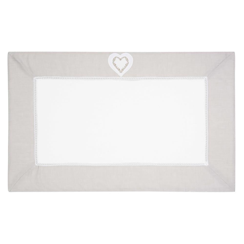 tapis de bain en coton blanc 50 x 80 cm heart maisons du. Black Bedroom Furniture Sets. Home Design Ideas