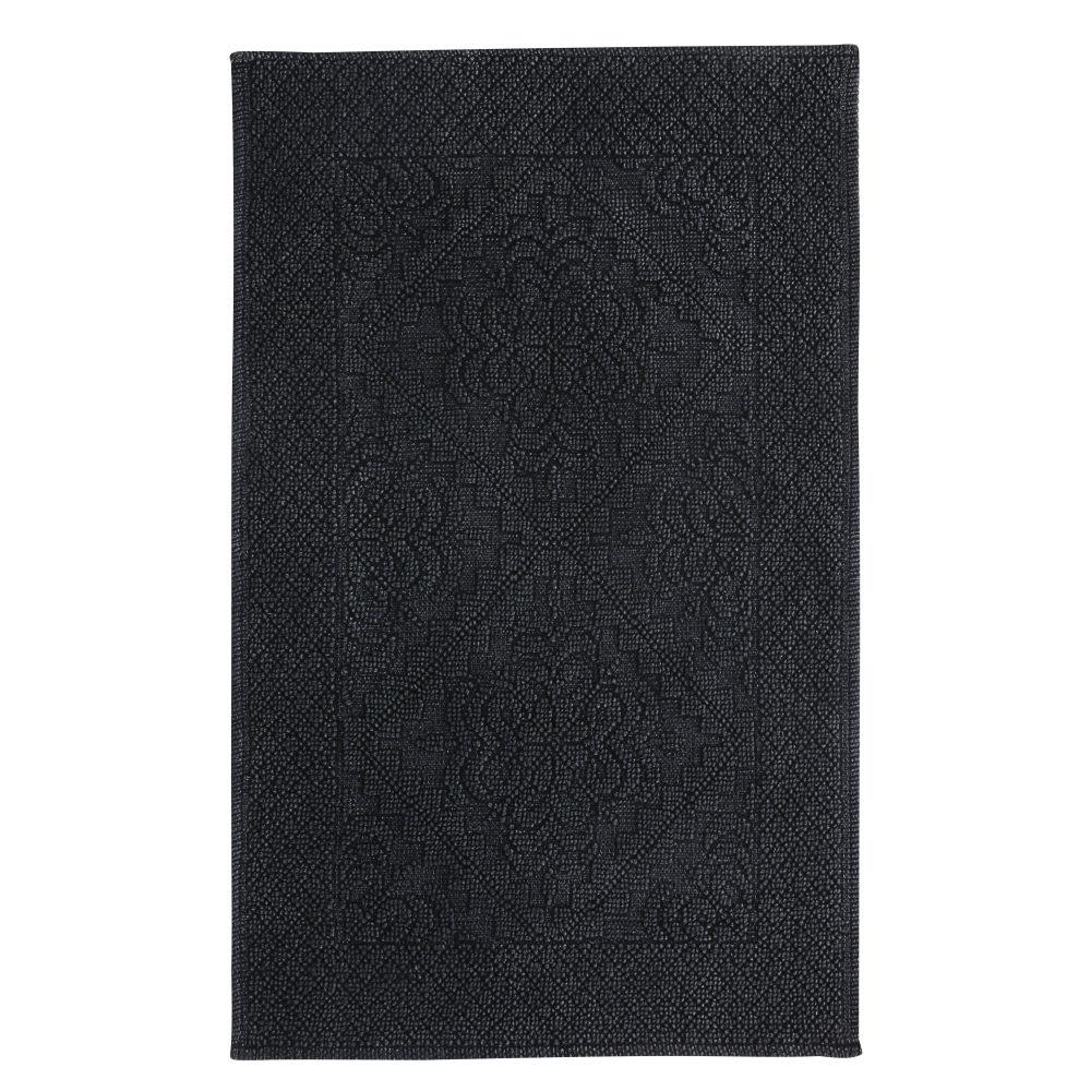 tapis de bain en coton nou gris anthracite 50x80 antique. Black Bedroom Furniture Sets. Home Design Ideas