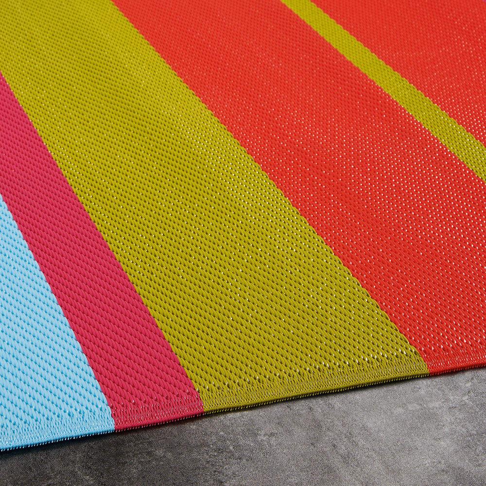 tapis de jardin en tissu ray multicolore 180x270. Black Bedroom Furniture Sets. Home Design Ideas