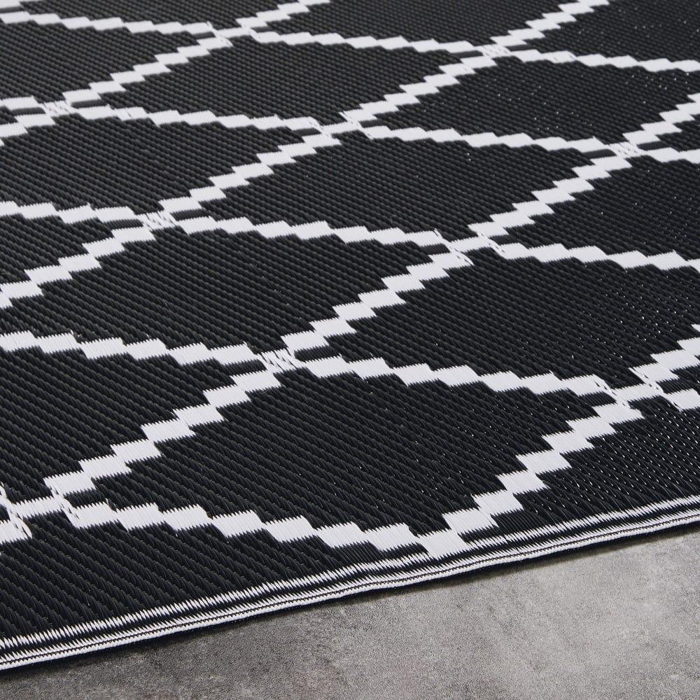 Tapis De Jardin : tapis de jardin motifs g om triques noirs et blancs ~ Nature-et-papiers.com Idées de Décoration