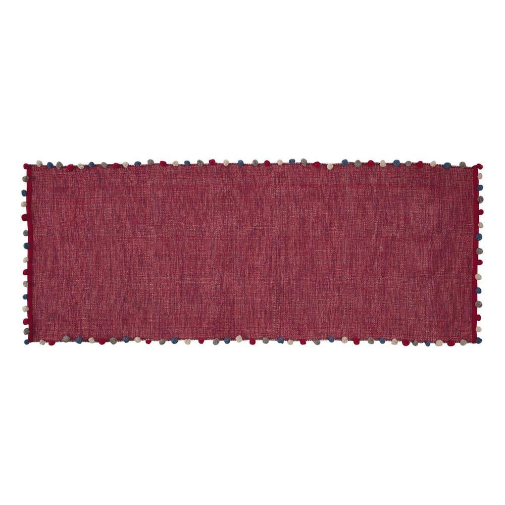 tapis en coton rose fuchsia 80 x 200 cm pompon maisons. Black Bedroom Furniture Sets. Home Design Ideas
