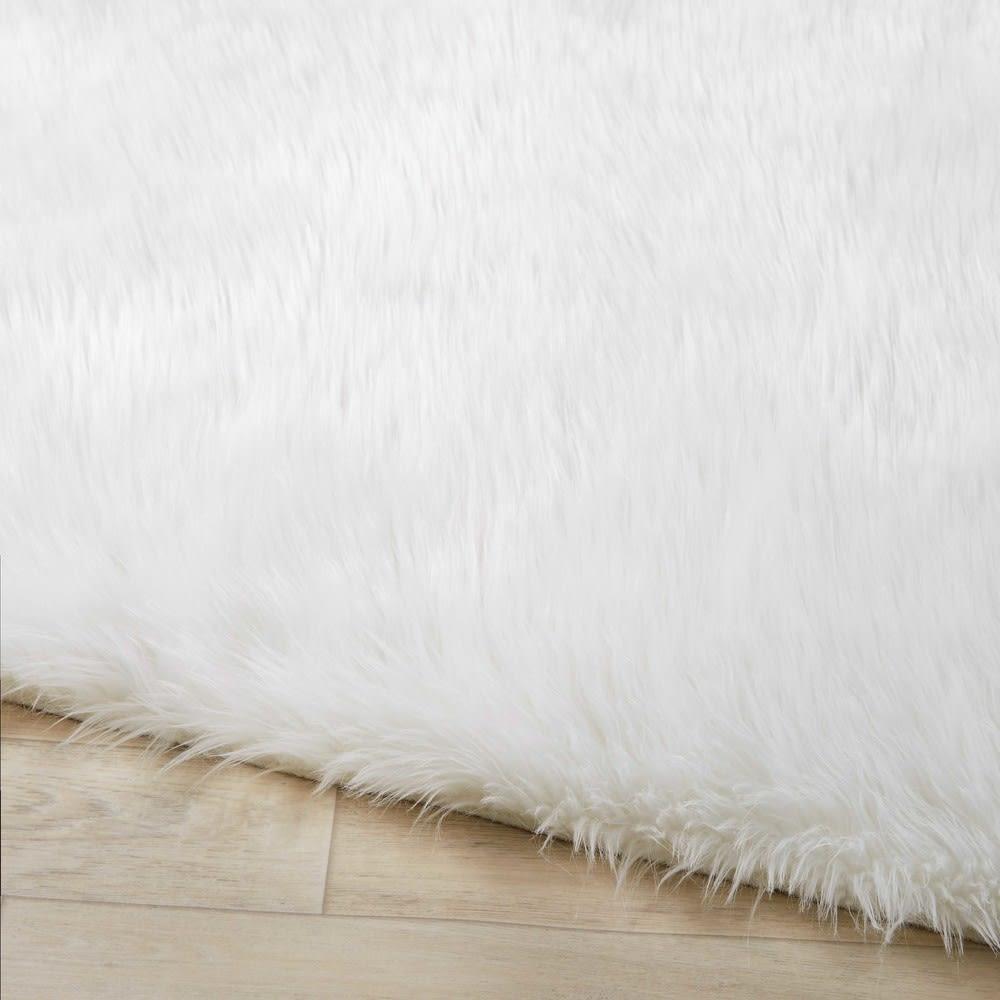 tapis en fausse fourrure crue 120x180 blush maisons du monde. Black Bedroom Furniture Sets. Home Design Ideas