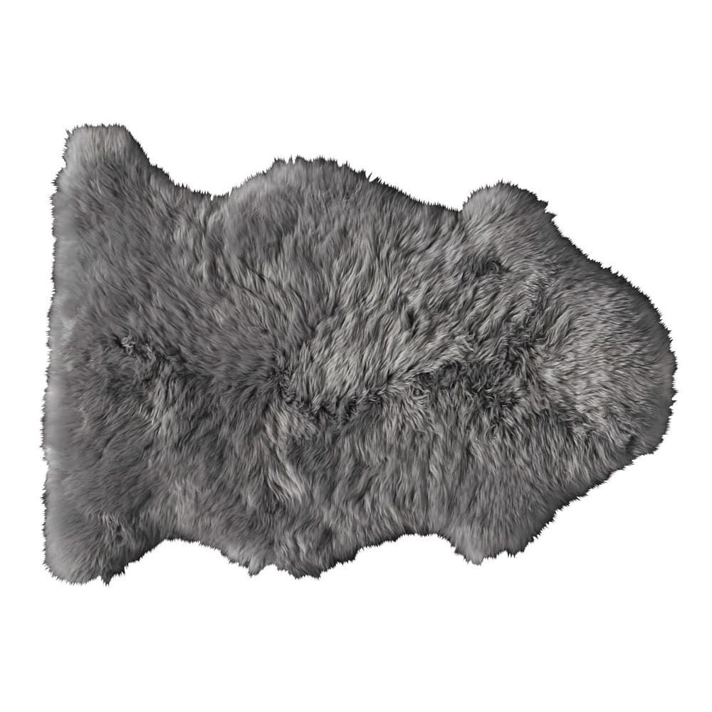 tapis en peau de mouton gris 55 x 90 cm maisons du monde. Black Bedroom Furniture Sets. Home Design Ideas