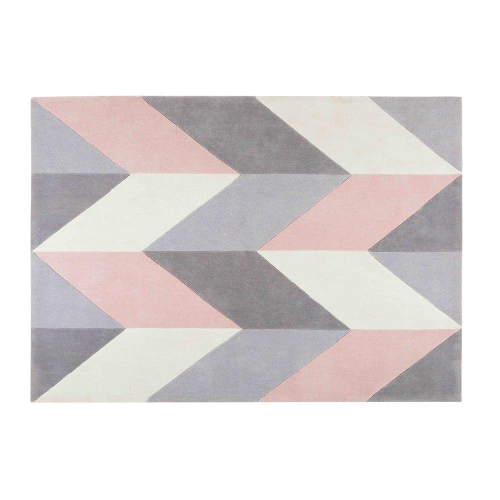 lummus - tapis en tissu motifs géométriques 140x200cm
