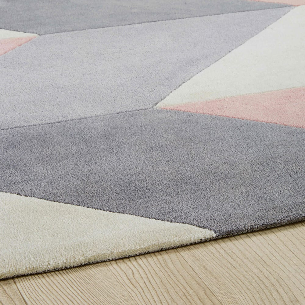 tapis en tissu motifs g om triques 140x200cm lummus maisons du monde. Black Bedroom Furniture Sets. Home Design Ideas