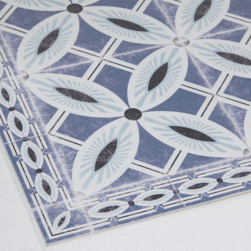 tapis en vinyle motifs carreaux de ciment 100x150 porto. Black Bedroom Furniture Sets. Home Design Ideas