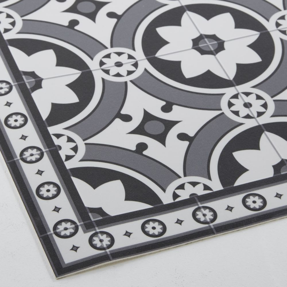 tapis en vinyle motifs carreaux de ciment 100x150 alma. Black Bedroom Furniture Sets. Home Design Ideas