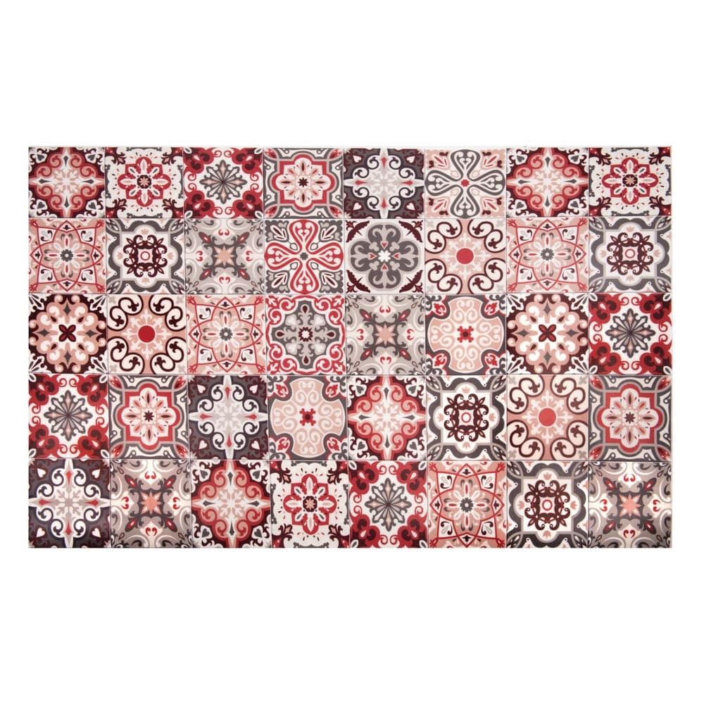 tapis en vinyle motifs carreaux de ciment 100x150 faro. Black Bedroom Furniture Sets. Home Design Ideas