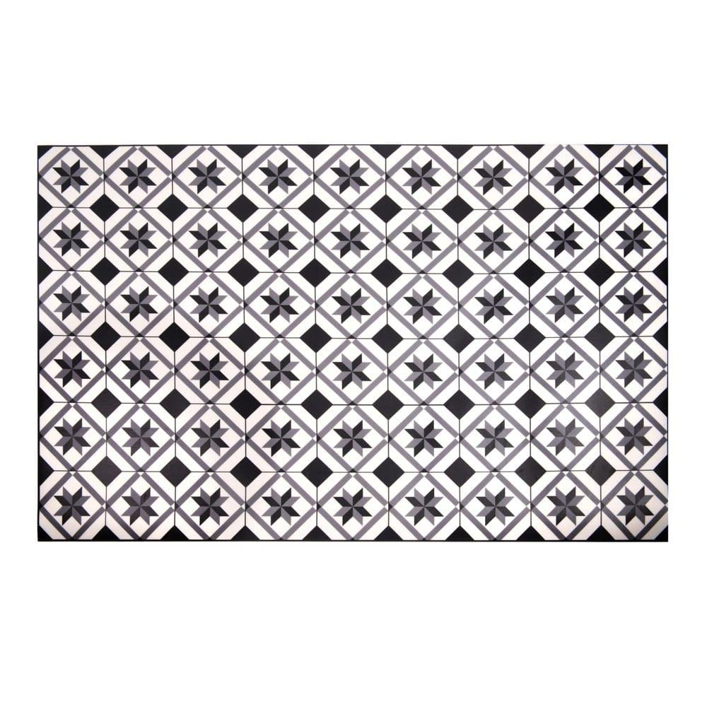 tapis en vinyle motifs carreaux de ciment 100x150 luso maisons du monde. Black Bedroom Furniture Sets. Home Design Ideas