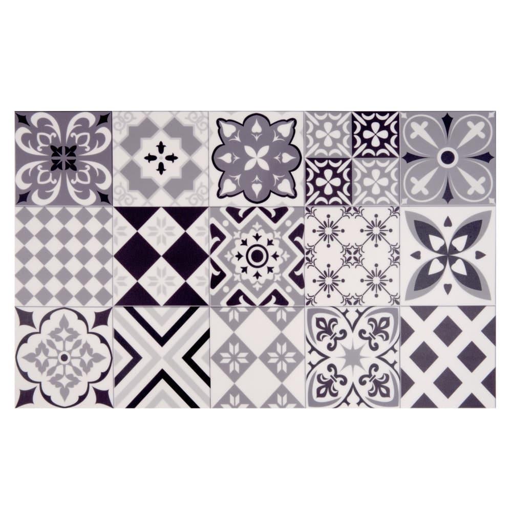 tapis en vinyle motifs carreaux de ciment 50x80 nova. Black Bedroom Furniture Sets. Home Design Ideas