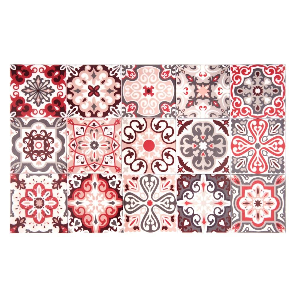 tapis en vinyle motifs carreaux de ciment 50x80 faro maisons du monde. Black Bedroom Furniture Sets. Home Design Ideas
