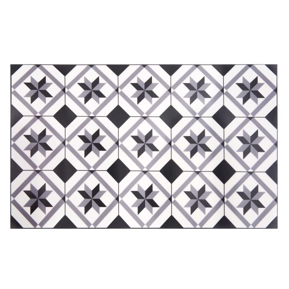 tapis en vinyle motifs carreaux de ciment 50x80 luso. Black Bedroom Furniture Sets. Home Design Ideas