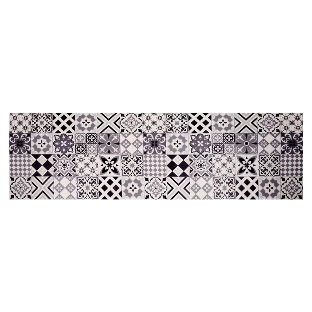 tapis en vinyle motifs carreaux de ciment 60x199 nova. Black Bedroom Furniture Sets. Home Design Ideas
