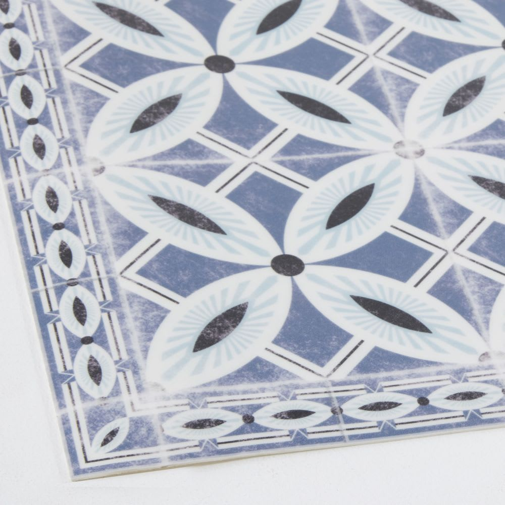 tapis en vinyle motifs carreaux de ciment 60x199 porto. Black Bedroom Furniture Sets. Home Design Ideas