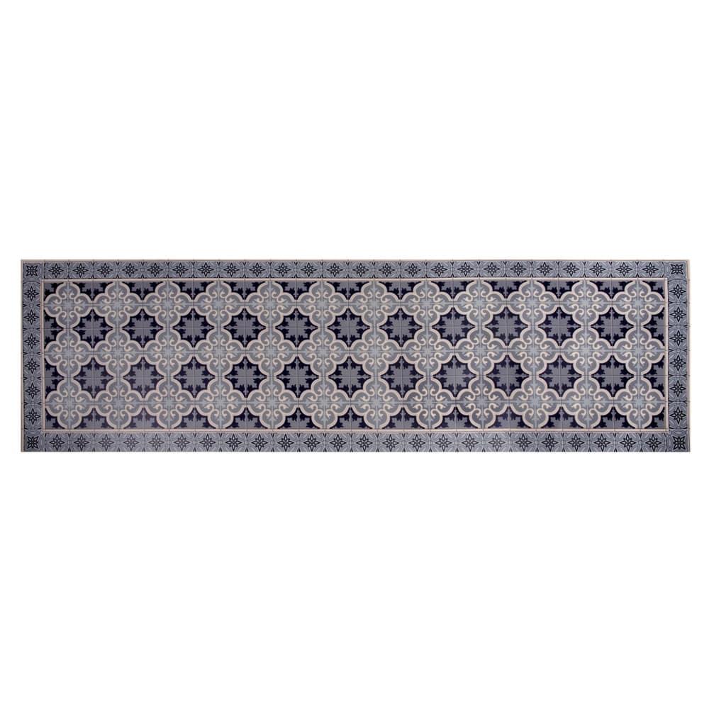 tapis en vinyle motifs carreaux de ciment 60x199 vila. Black Bedroom Furniture Sets. Home Design Ideas