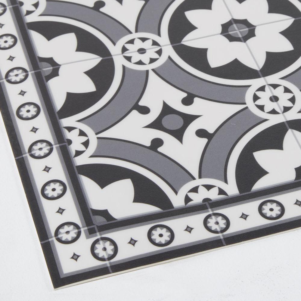 tapis en vinyle motifs carreaux de ciment 60x199 alma. Black Bedroom Furniture Sets. Home Design Ideas