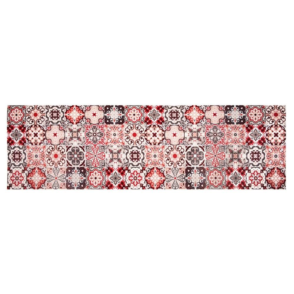 tapis en vinyle motifs carreaux de ciment 60x199 faro. Black Bedroom Furniture Sets. Home Design Ideas