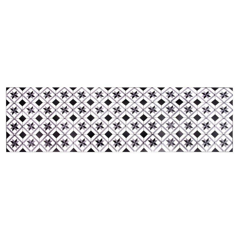 tapis en vinyle motifs carreaux de ciment 60x199 luso. Black Bedroom Furniture Sets. Home Design Ideas