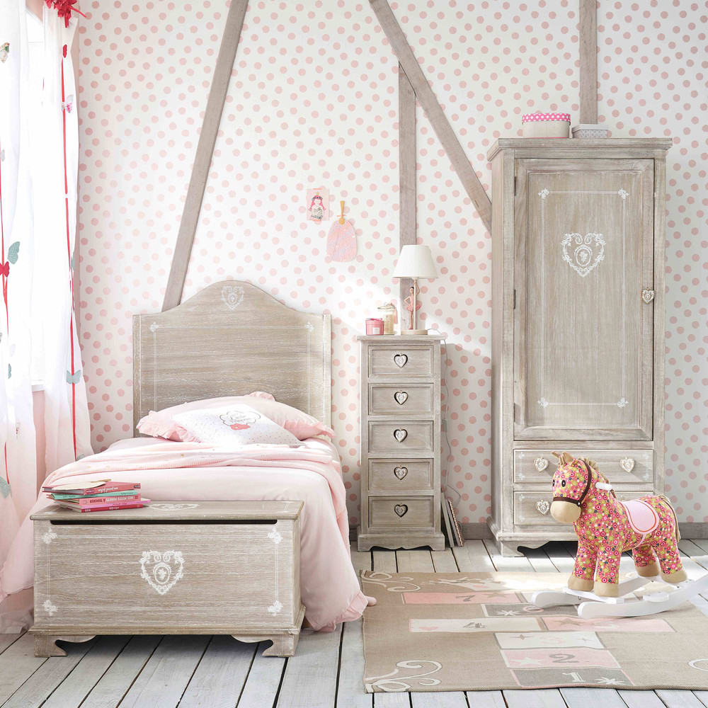 tapis enfant marelle en coton gris et rose 120x180. Black Bedroom Furniture Sets. Home Design Ideas