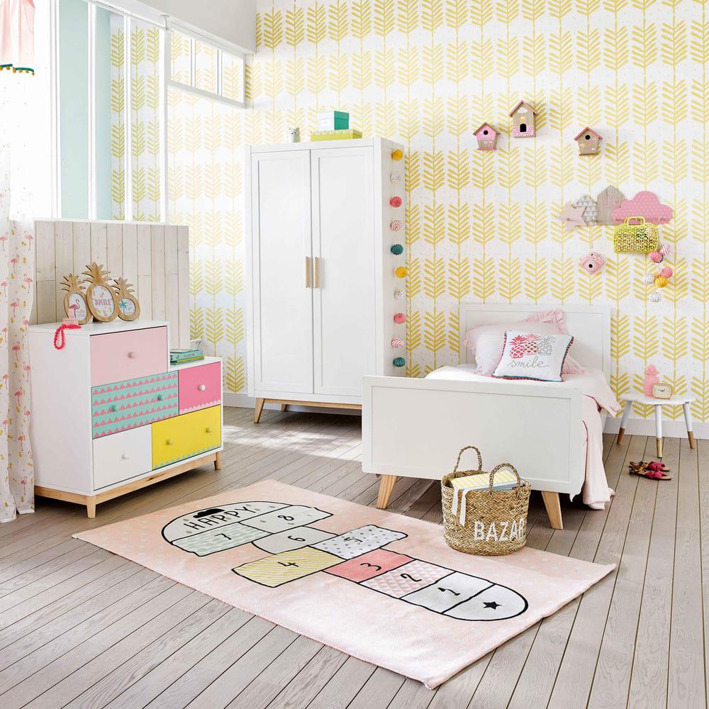 Tapis Enfant Marelle En Coton Rose 120 X 180 Cm Happy Maisons Du Monde