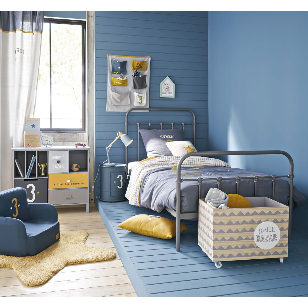 tapis toile jaune moutarde 100x100 gaspard maisons du monde. Black Bedroom Furniture Sets. Home Design Ideas