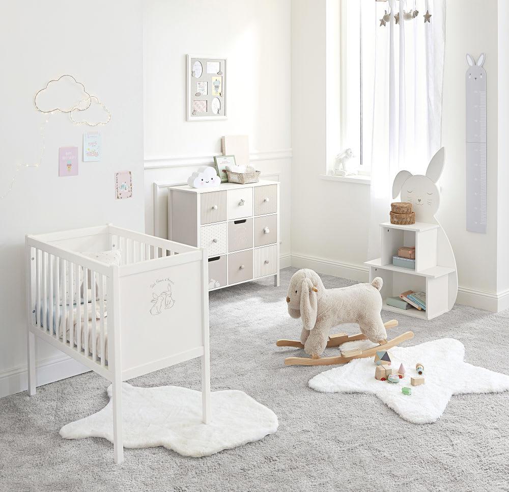 tapis imitation fourrure crue 60x90 bulle maisons du monde. Black Bedroom Furniture Sets. Home Design Ideas