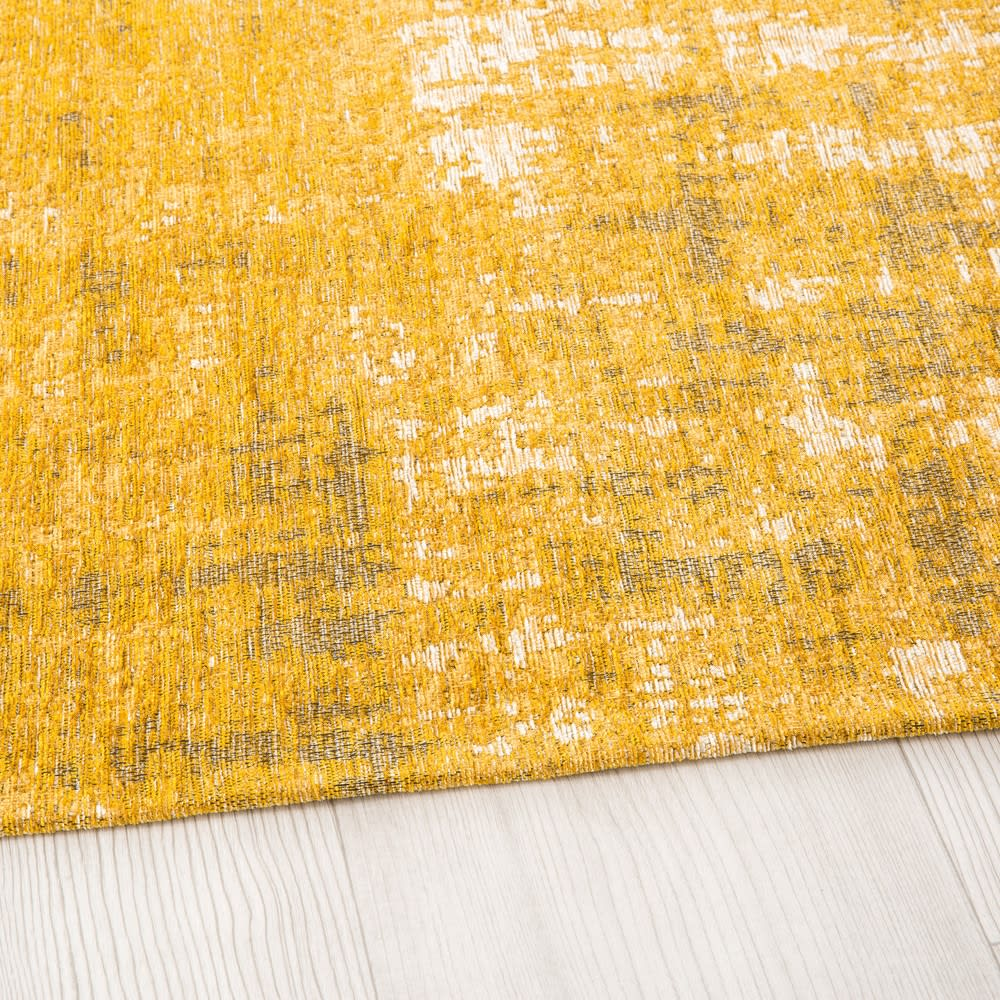 tapis jaune moutarde motifs jacquard 200x290 feel maisons du monde. Black Bedroom Furniture Sets. Home Design Ideas