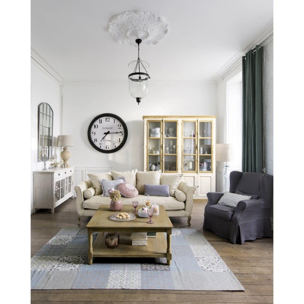 tapis motifs carreaux de ciment 140 x 200 cm provence maisons du monde. Black Bedroom Furniture Sets. Home Design Ideas