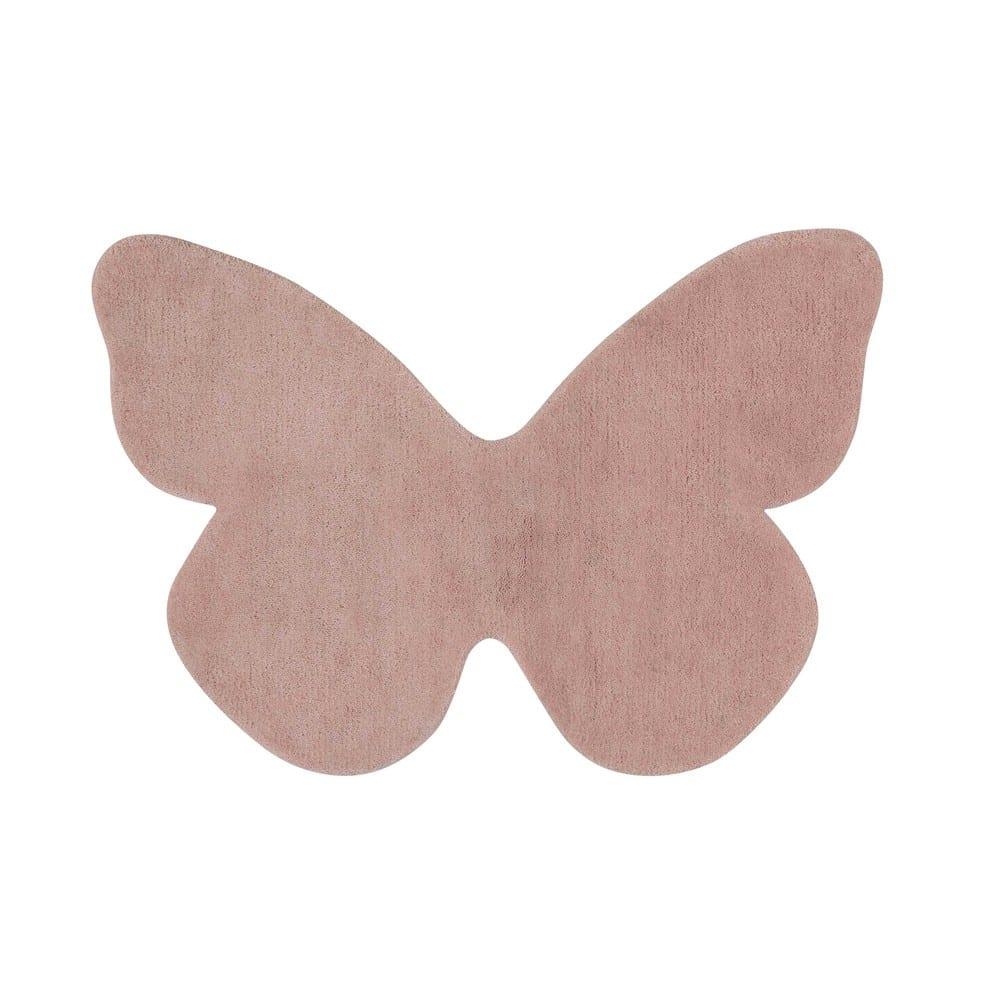 Tapis Papillon Rose 60 X 85 Cm Butterfly Maisons Du Monde