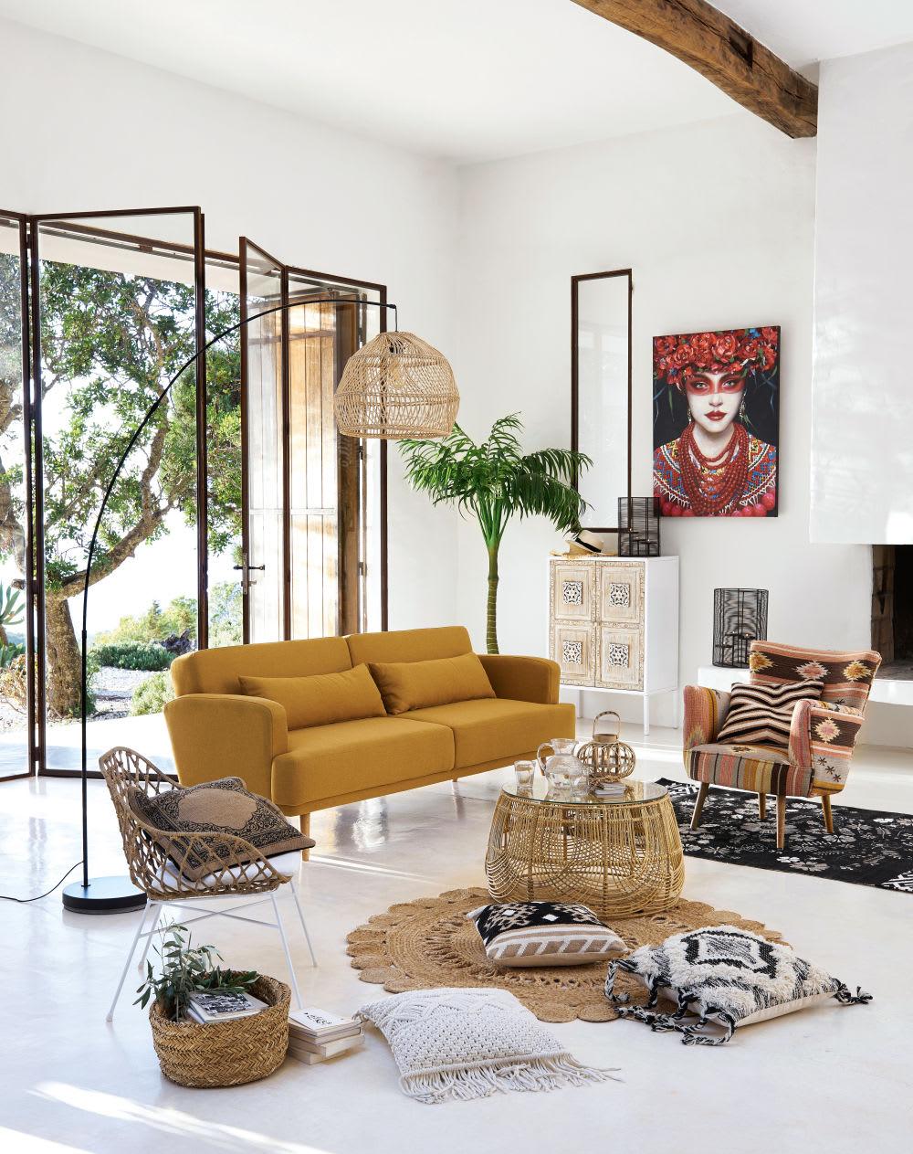tapis rond en jute d150 marno maisons du monde. Black Bedroom Furniture Sets. Home Design Ideas