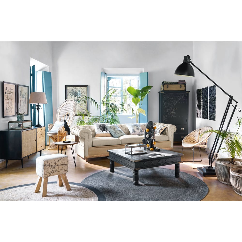 tapis rond en jute d180 nino maisons du monde. Black Bedroom Furniture Sets. Home Design Ideas