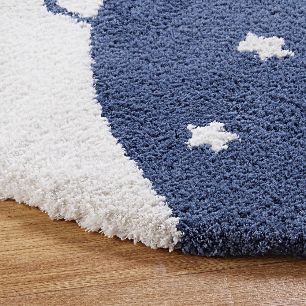 tapis rond imprim d100 lune maisons du monde. Black Bedroom Furniture Sets. Home Design Ideas