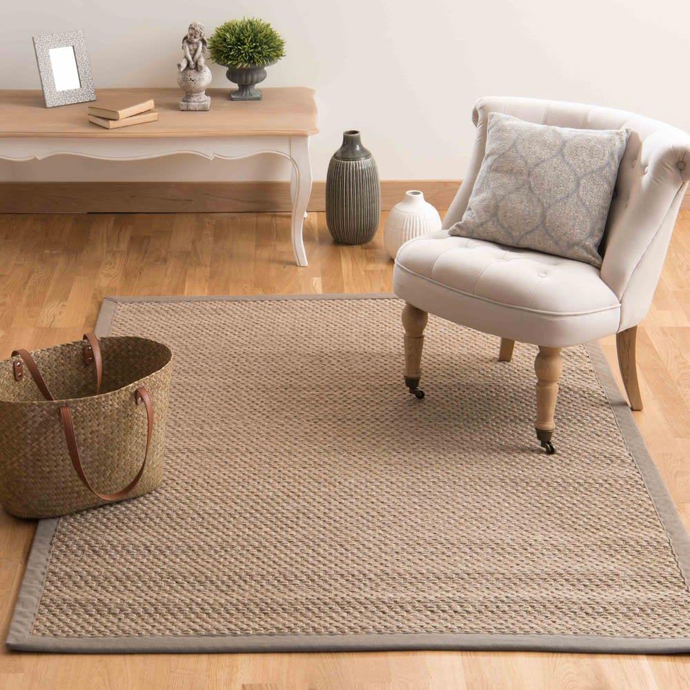 bastide - tapis tressé en sisal beige 160x230