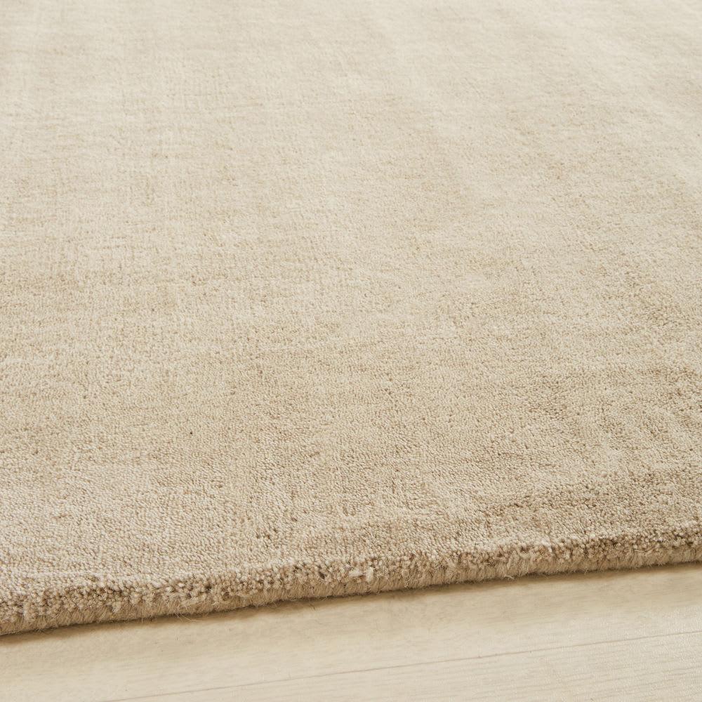 Tappeto beige in lana a pelo corto 250 x 350 cm Soft | Maisons du Monde