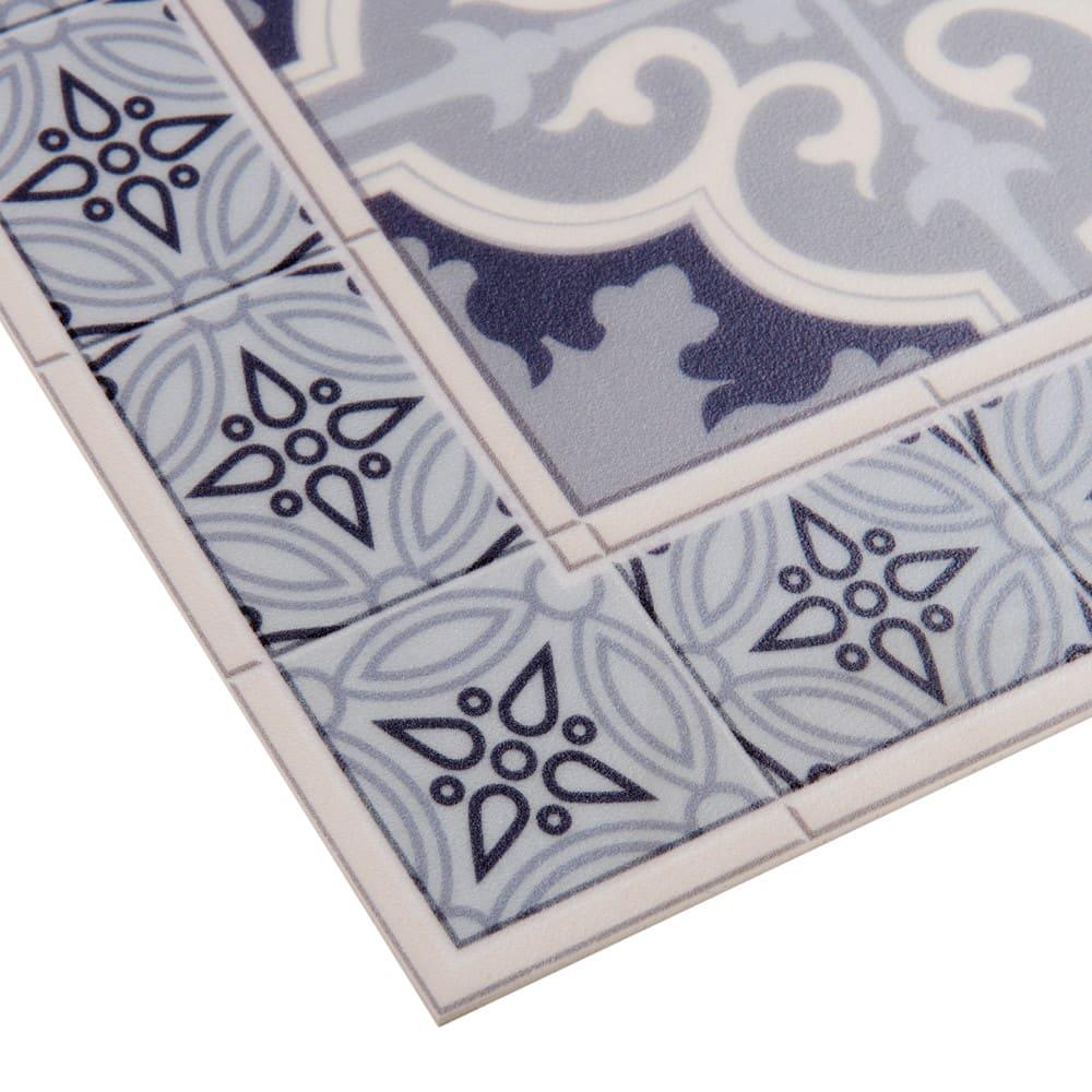 tappeto in vinile con motivi a mattonelle 60x199 cm vila