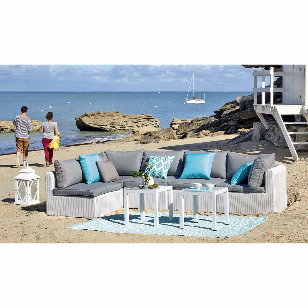 Tavolino da divano bianco da giardino in alluminio l 45 cm - Tavolino da giardino ikea ...