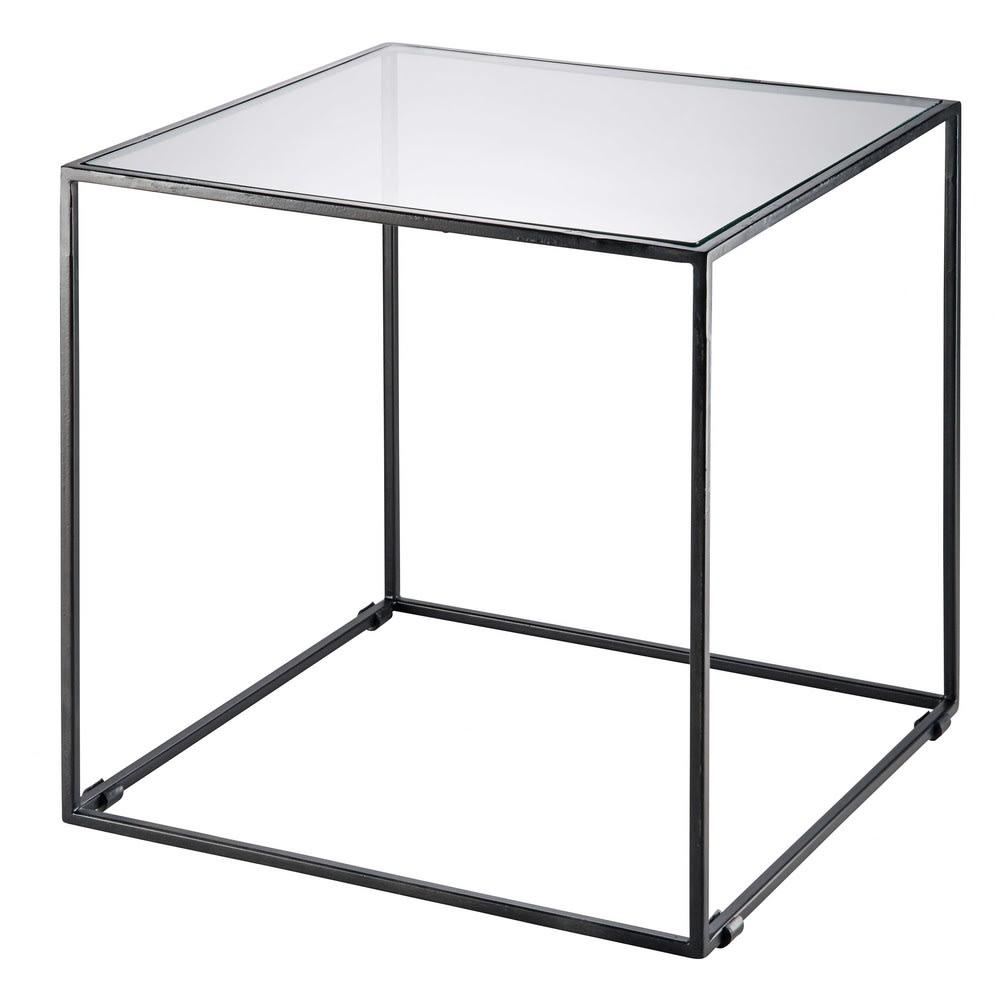 Tavolini Salotto Vetro Temperato.Tavolino Da Salotto In Metallo Nero E Vetro Temperato Isma Maisons