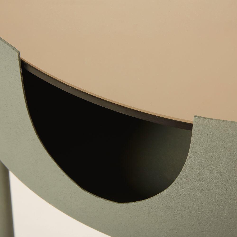 Tavolino da salotto in vetro fumé e metallo grigio antracite Theos ...