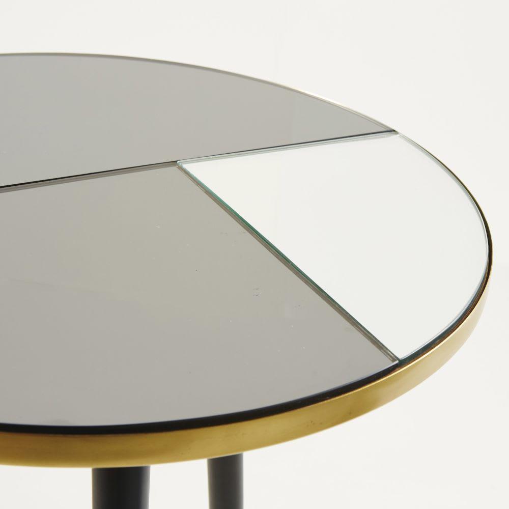 Tavolino da salotto in vetro fumé e specchio Sixties | Maisons du Monde