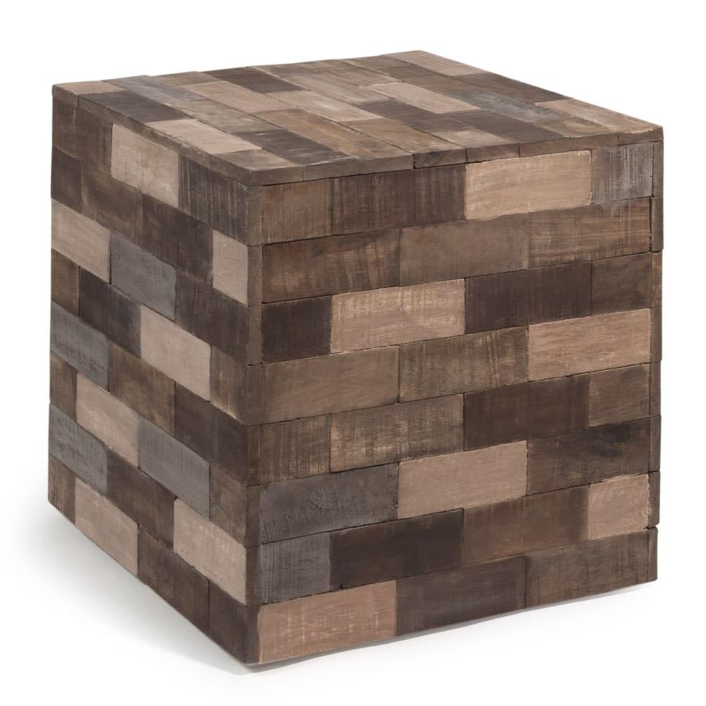 Tavolo Cubo Da Giardino.Tavolino Da Salotto Multicolore In Legno A Forma Di Cubo L 41 Cm