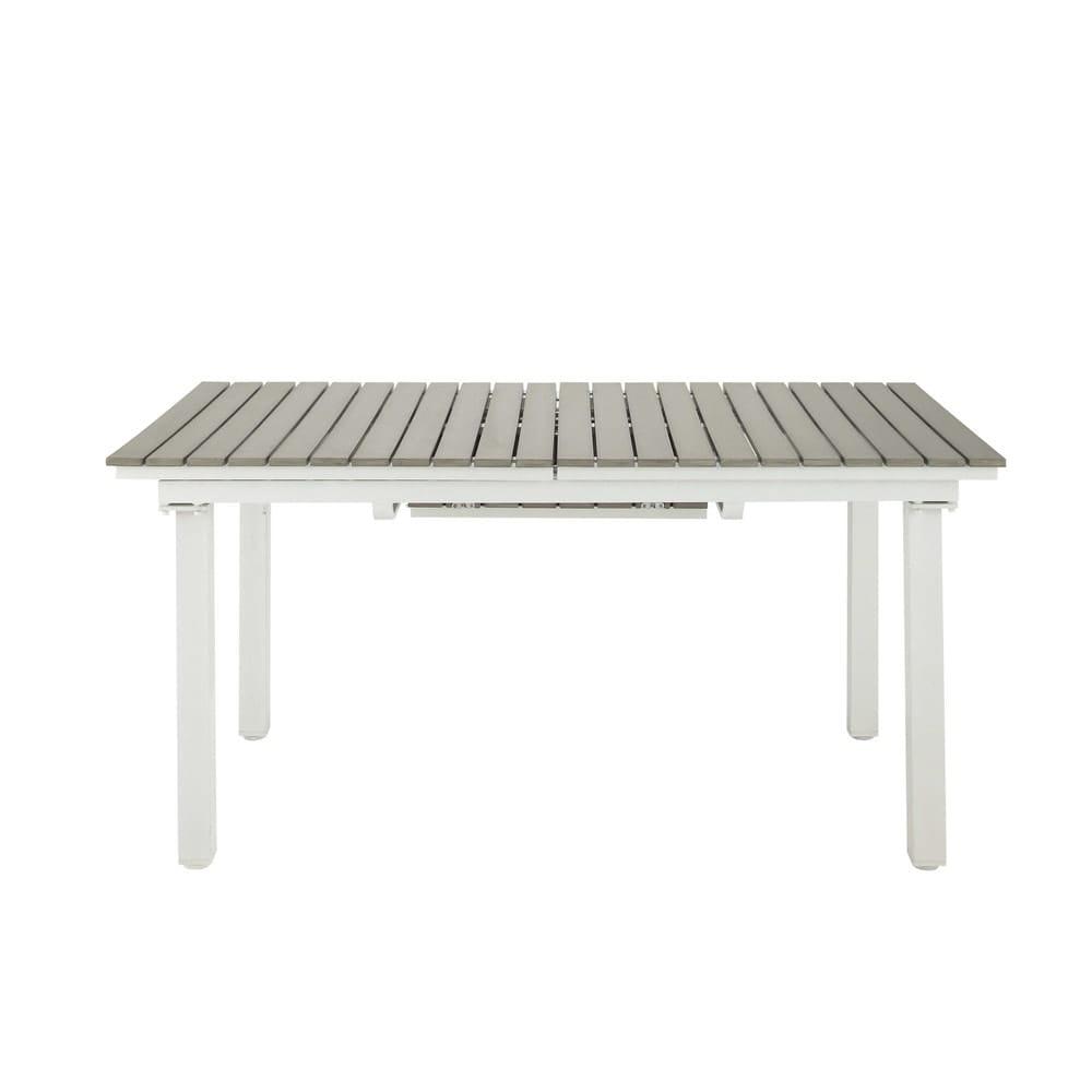 Tavolo Allungabile In Alluminio.Tavolo Allungabile Da Giardino 6 10 Persone In Composito E Alluminio