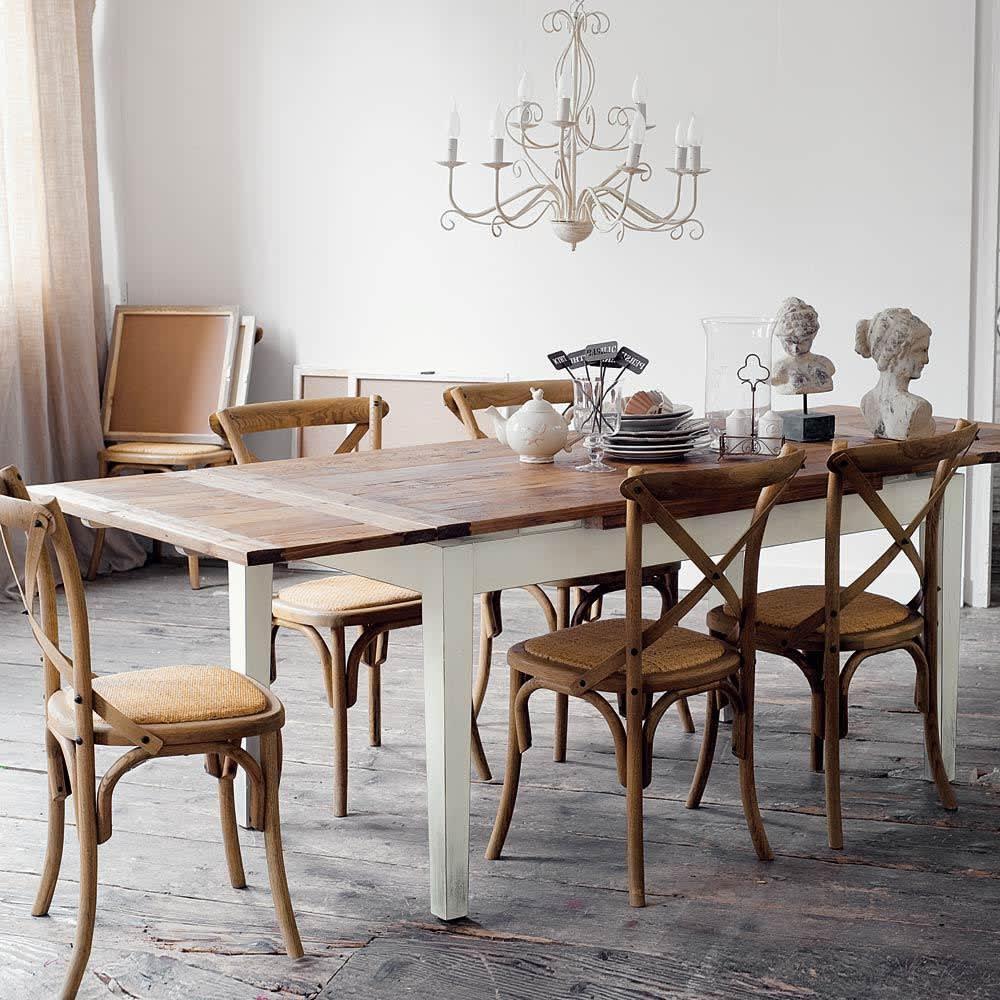 Tavolo allungabile per sala da pranzo in massello di pioppo 160 cm ...