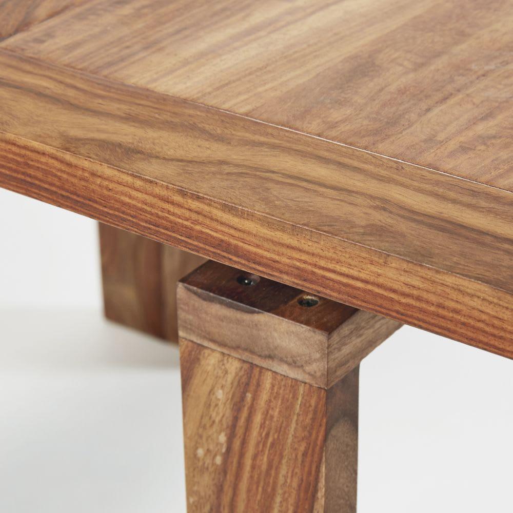 Tavolo consolle allungabile in legno massello di sheesham 2/6 ...